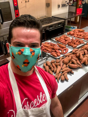 Sweetness Sweet Potatoes and Will H. Hansen in Kitchen