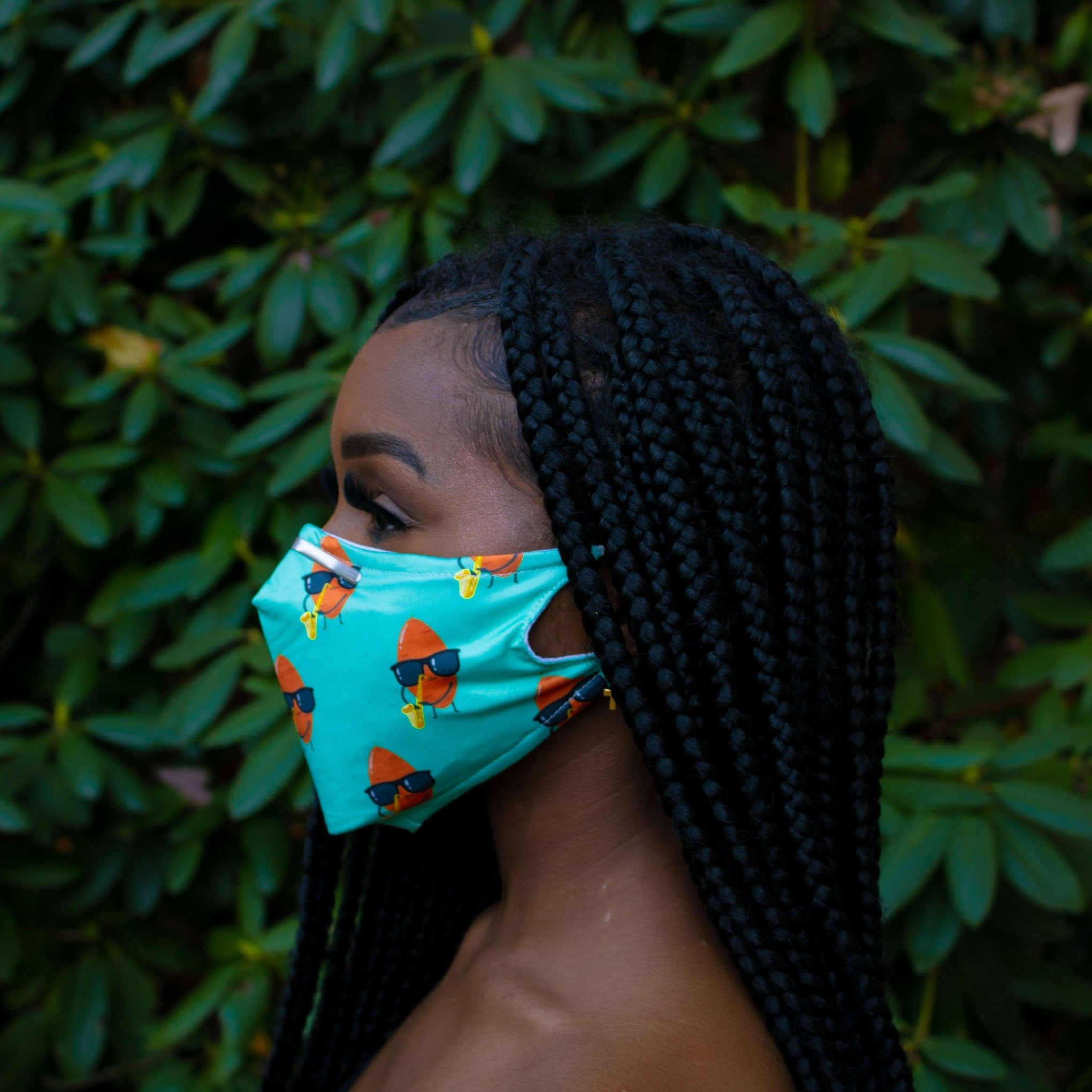 Summer Blues Mask: Adjustable 3-Layer Mask with Filters - Meeting World Health Organization Standards