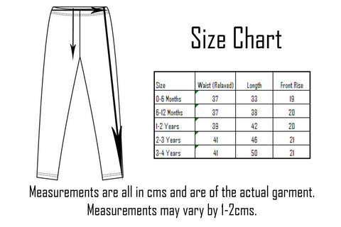 Blade & Rose Kids Leggings Size Chart