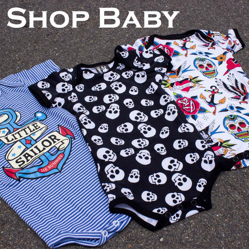 151160fccf5ff Punk, Tattoo, Geeky, Rockabilly & Metal Baby & Kids Clothing & Acc