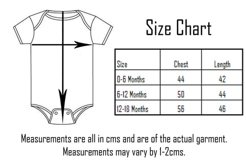 Darkside Clothing Onesie Size Chart