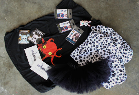 Free gifts for Halloween. Punk Alternative baby & kids clothing.