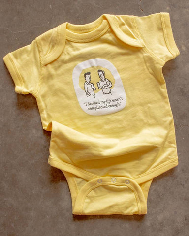 Wry Baby Complicated Onesie