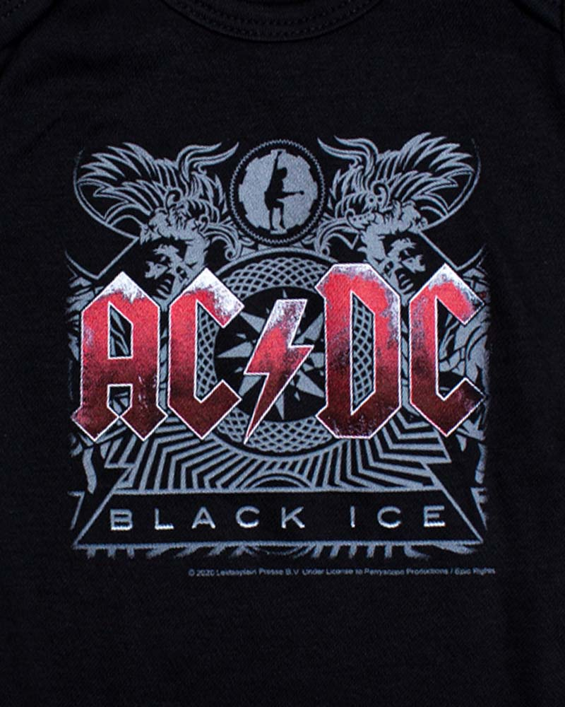 Metal Kids AC/DC Black Ice Onesie