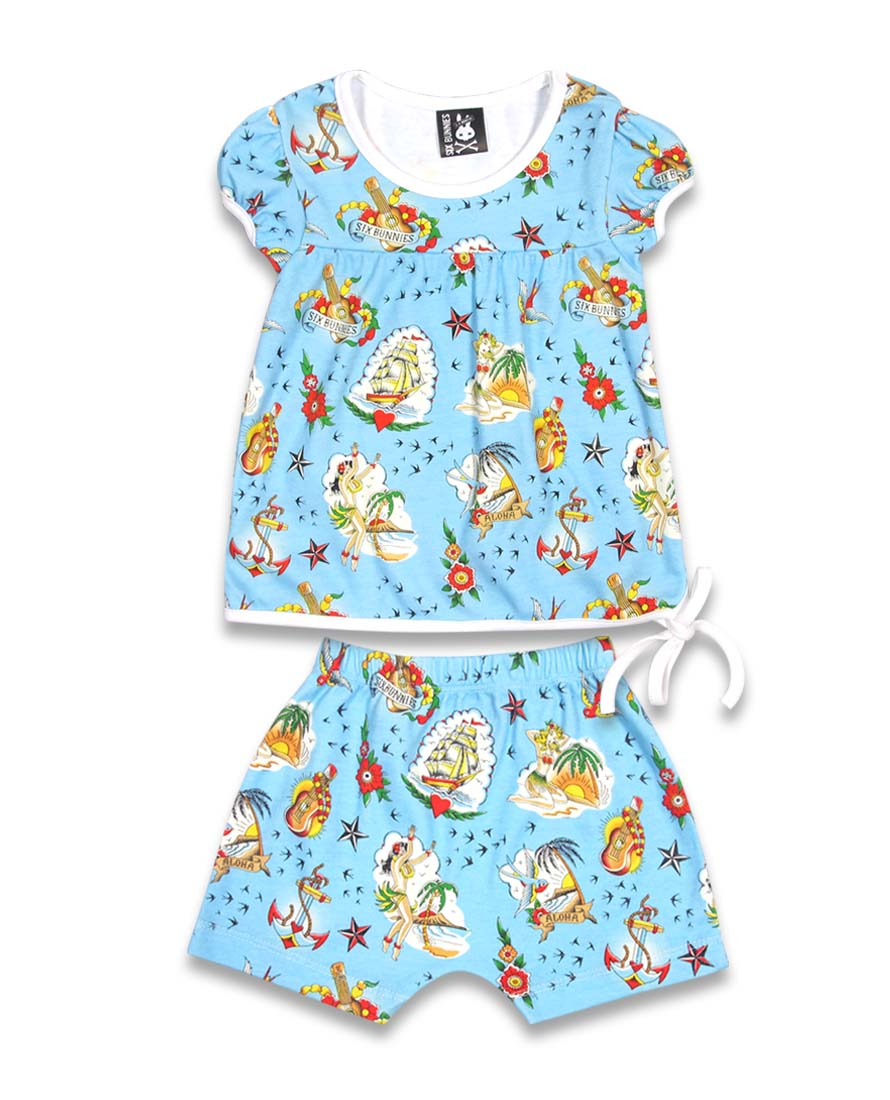 Six Bunnies Aloha Short Pyjama Set