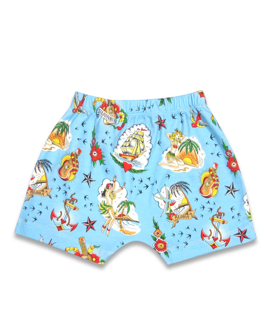 Six Bunnies Aloha Short Pyjama Set Bottom
