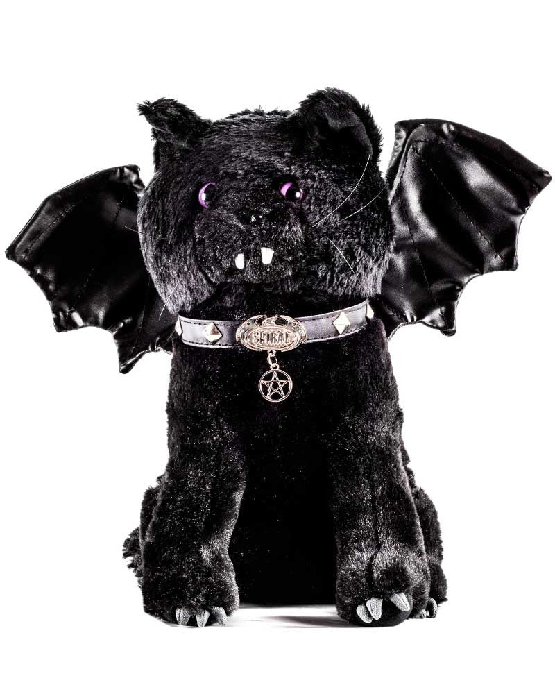 Spiral Direct Gothic Black Bat Cat Plush Toy