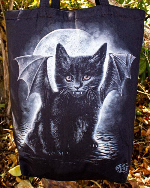 Spiral Direct Bat Cat Gothic Tote Bag