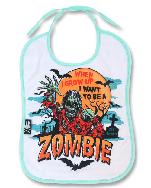 I Want To Be A Zombie Bib