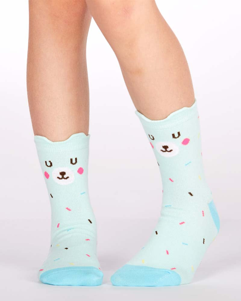Sock It To Me Bearly Sprinkled Kids Crew Socks