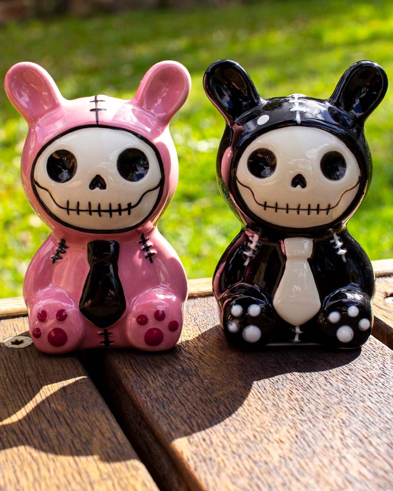 Furrybones Bunny Rabbit Bun-Bun Salt & Pepper Shaker Set