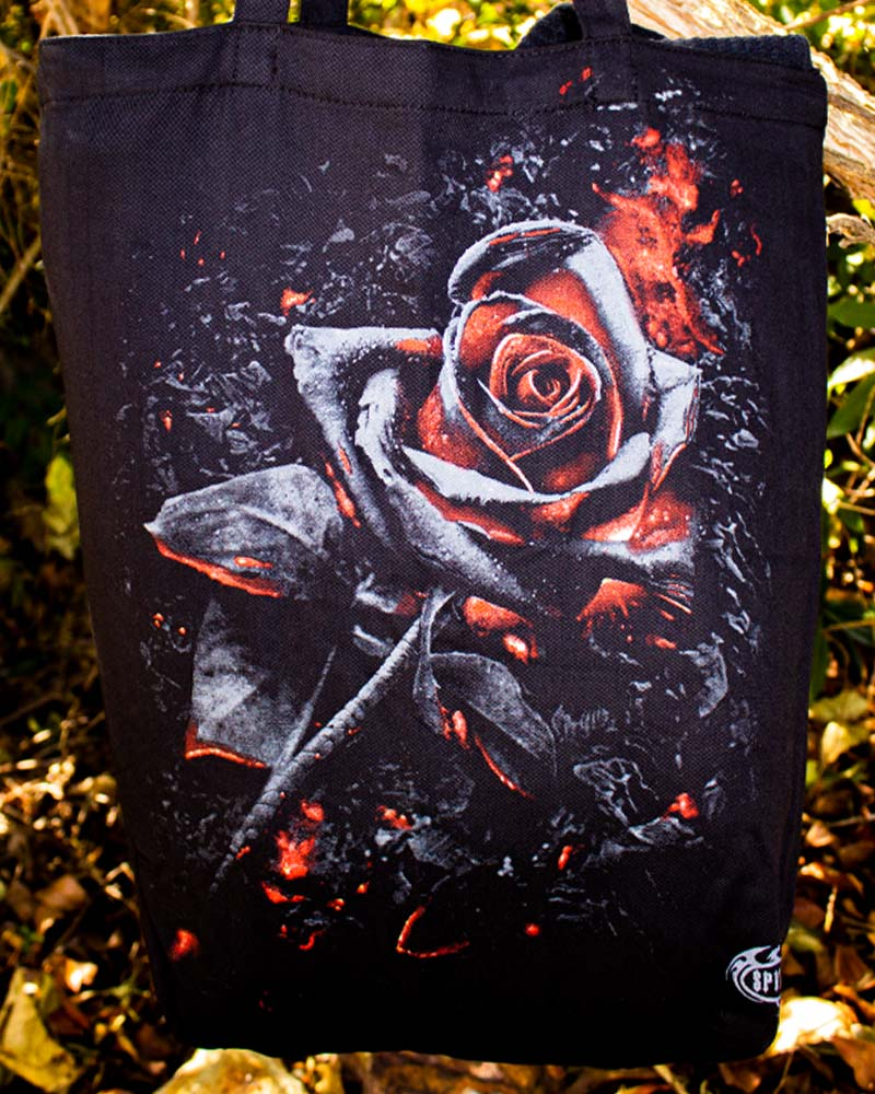 Spiral Direct Burnt Rose Gothic Tote Bag