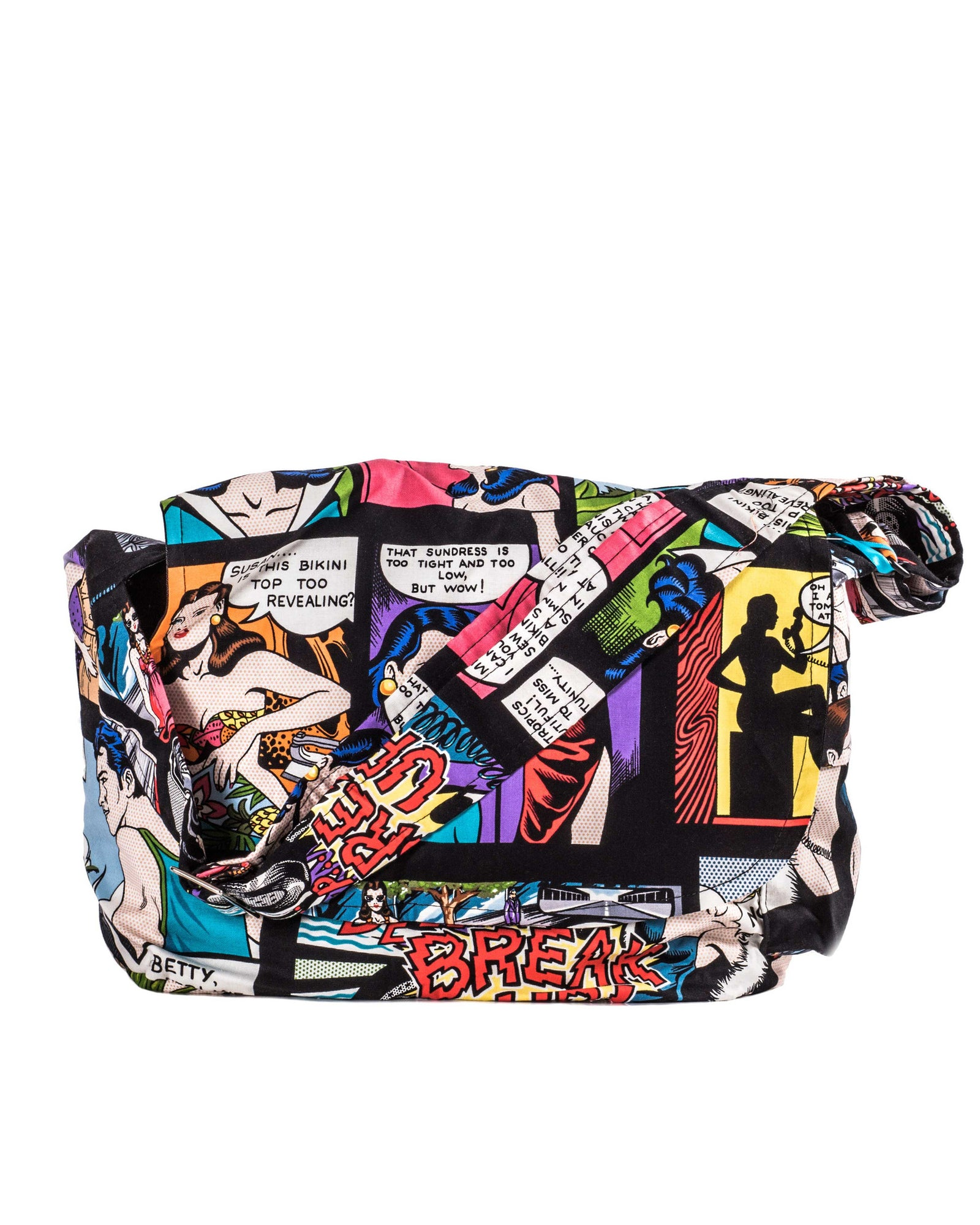 Retro Comic Strip Messenger Bag