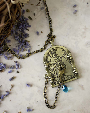 Nightmare Before Christmas Jack & Sally Pocket Watch Necklace