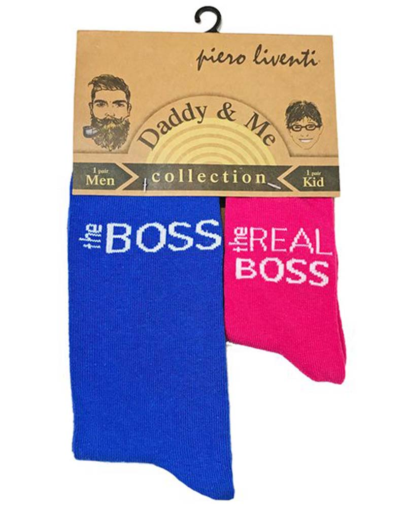 Piero Liventi The Real Boss Daddy & Me Socks