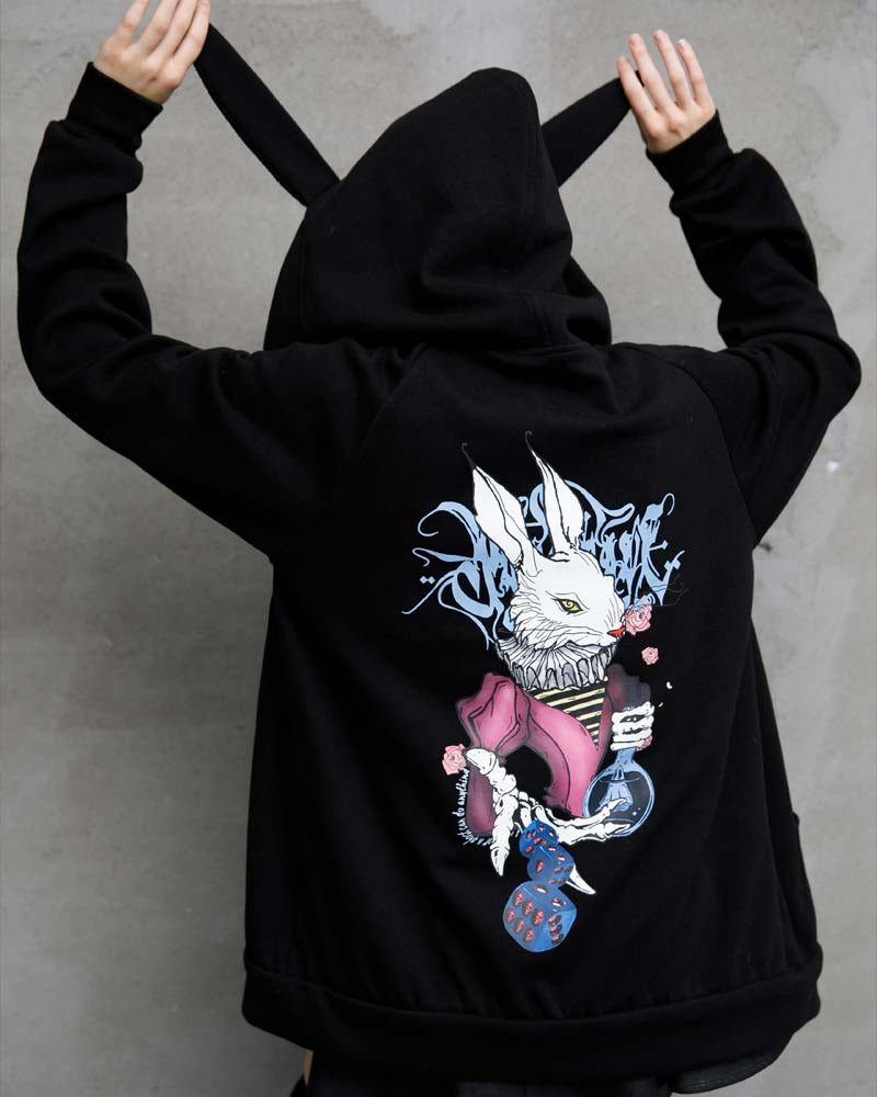 Punk Rave Dark Rabbit Adults Hoodie