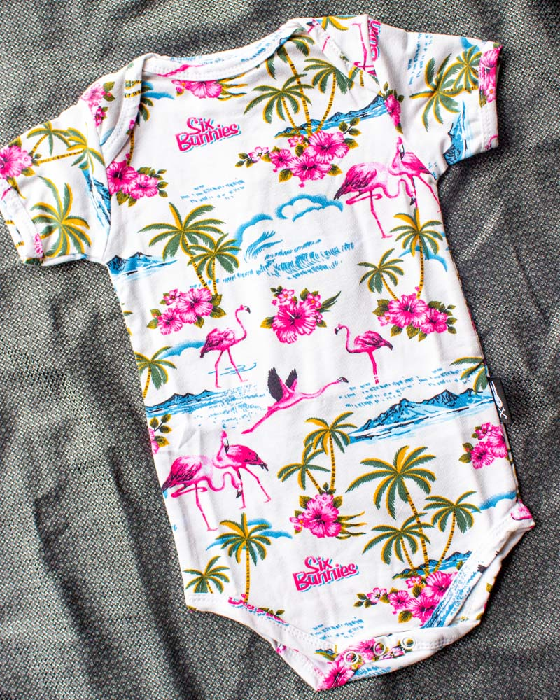 Flamingo Cream Onesie