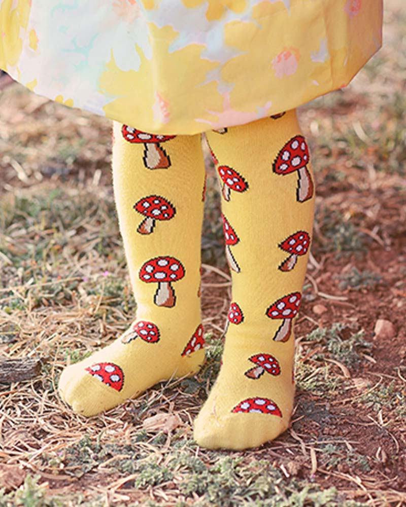 Slugs & Snails Fun Guy Mushroom Tights