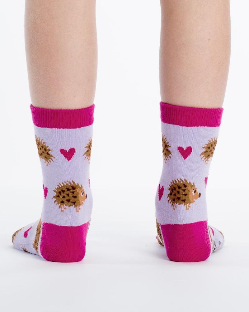 Sock It To Me Hedgehog Heaven Kids Crew Socks