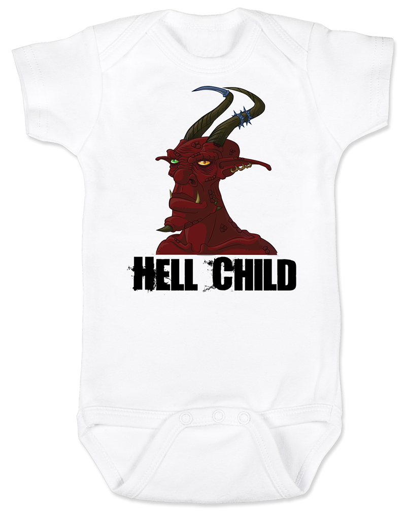 Vulgar Baby Hell Child Onesie