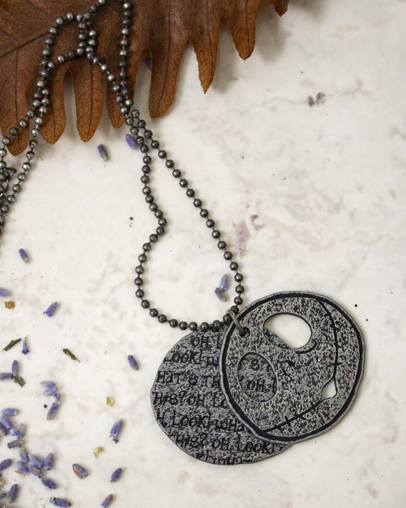 Nightmare Before Christmas Jack Tags Necklace