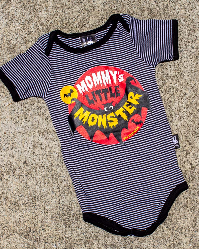 Six Bunnies Mommy's Little Monster Onesie