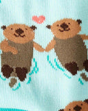 Sock It To Me My Otter Half Kids Crew Socks