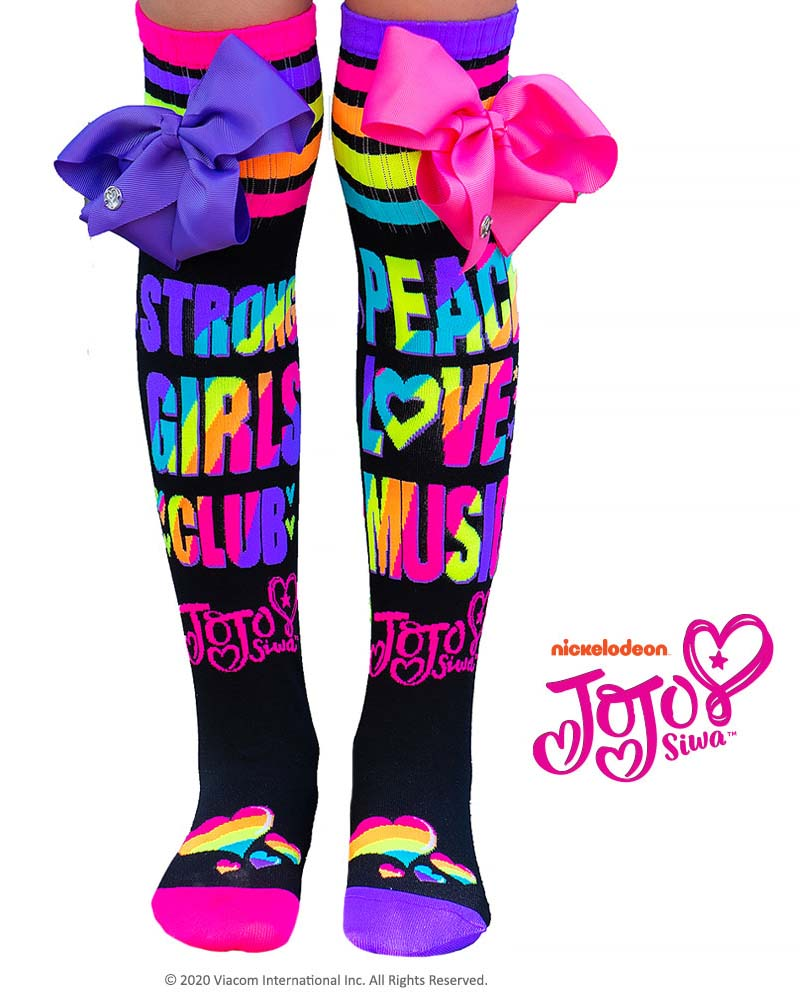MadMia JoJo Siwa Peace Love Music Socks