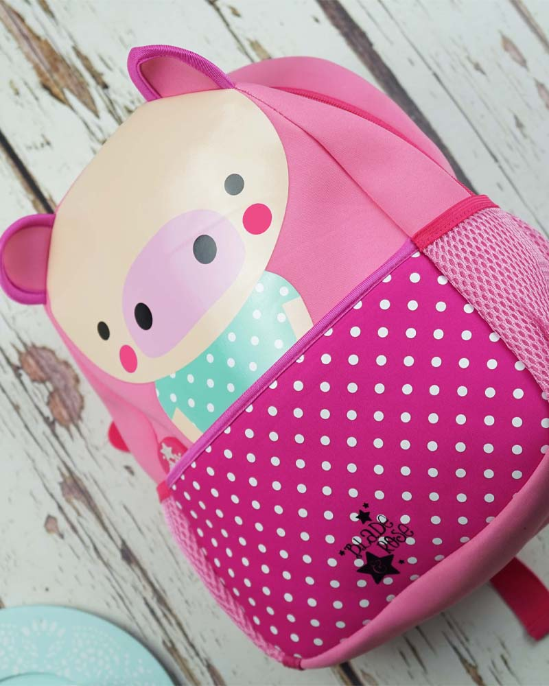 Blade & Rose Pink Pig Kids Backpack