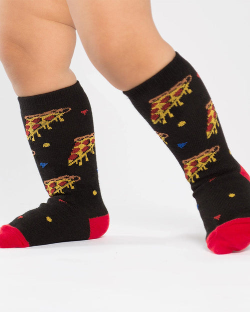 Pizza Party Toddler Knee High Socks