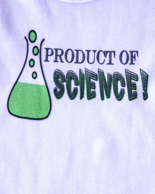 Vulgar Baby Product Of Science Onesie