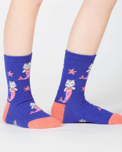 Sock It To Me Purrmaid Kids Crew Socks