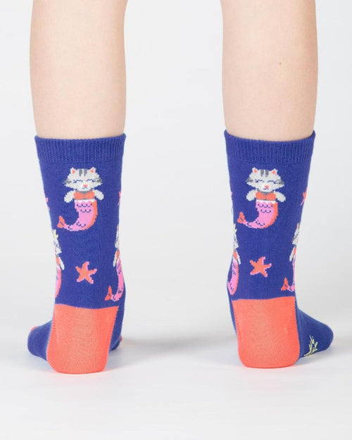 Purrmaid Kids Crew Socks