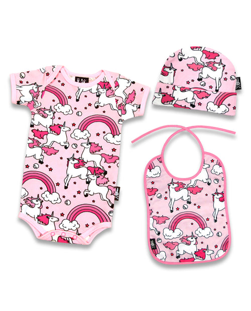 Six Bunnies Pink Rainbows & Unicorns Gift Set