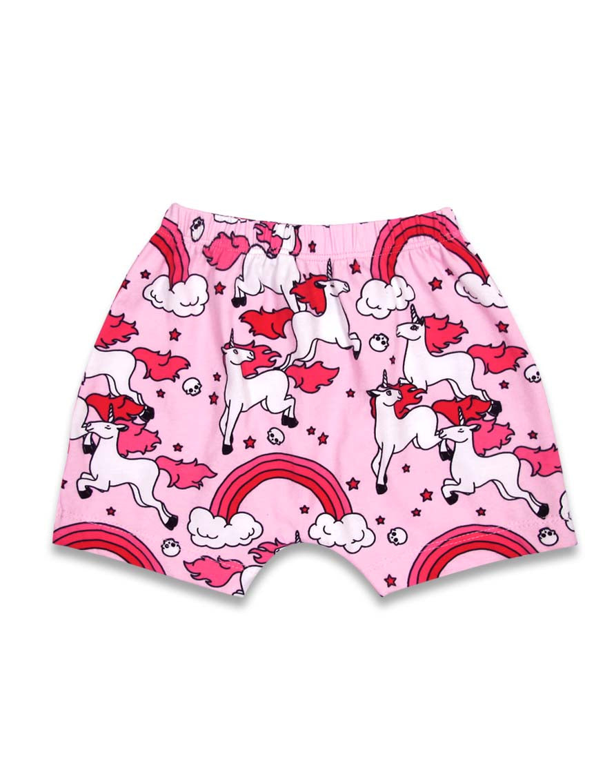 Six Bunnies Rainbows Short Pyjama Set Bottoms