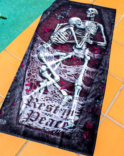 Spiral Direct Rest In Peace Gothic Beach Towel