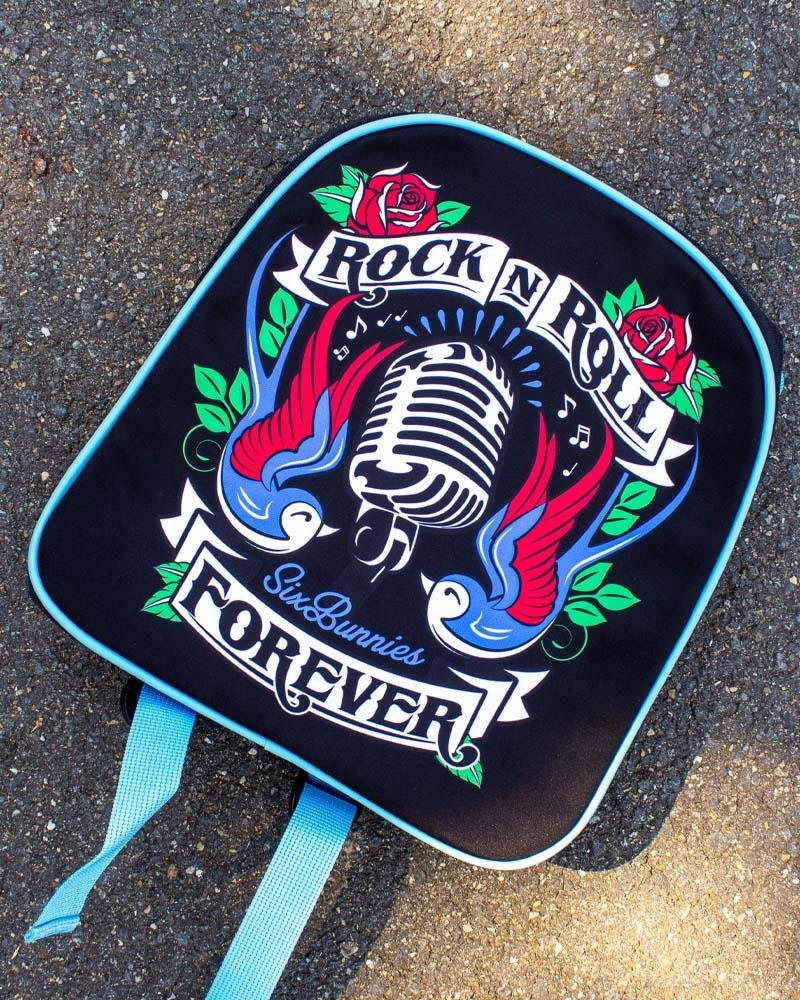 Six Bunnies Rock N Roll Forever Backpack
