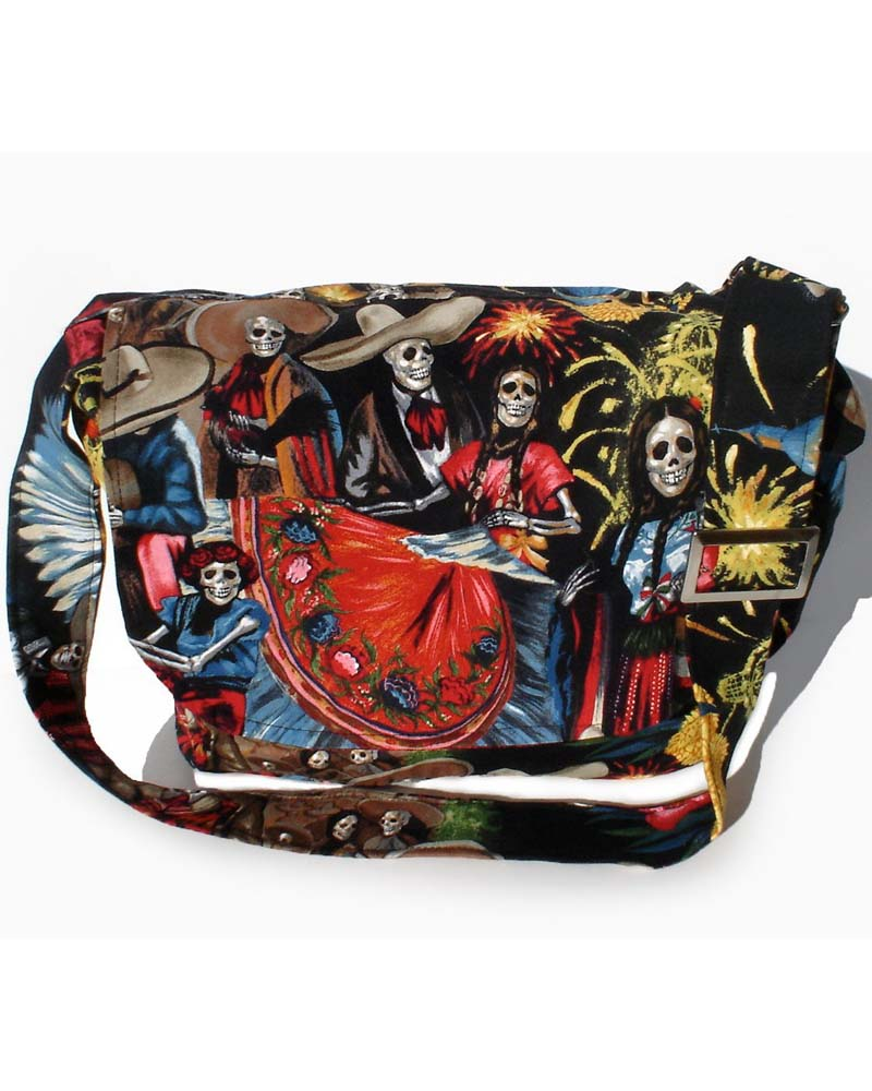 San Marcos Skeleton Messenger Bag