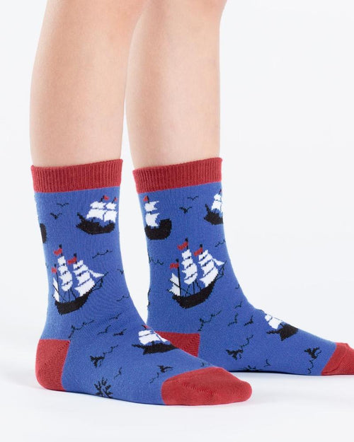 Sock It To Me Ship Shape Kids Crew Socks