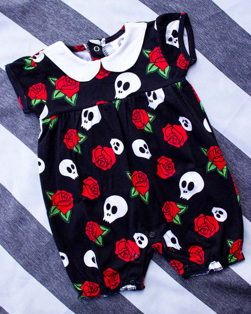 Metallimonsters Skulls & Roses Romper