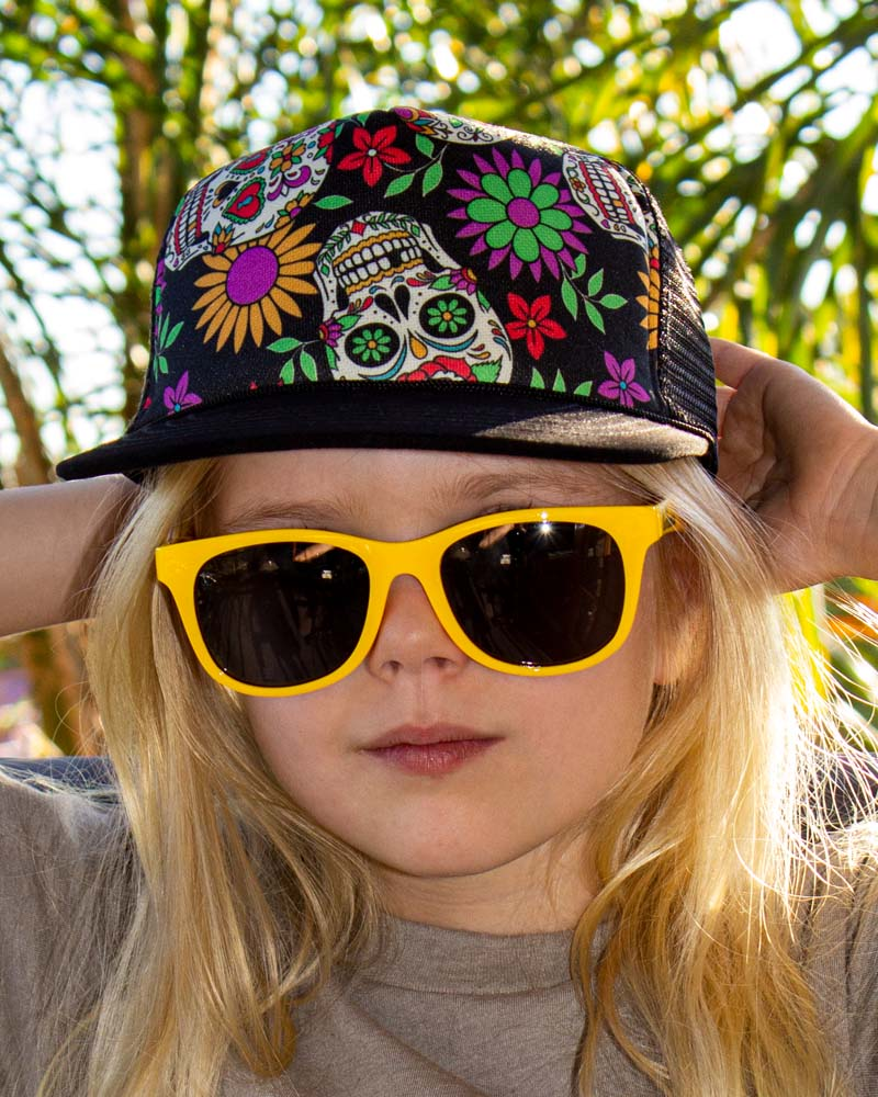 Six Bunnies Wayfarer Kids Sunglasses - Yellow