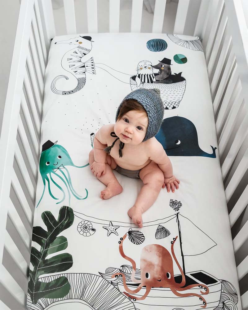 Underwater Love Cot Sheet