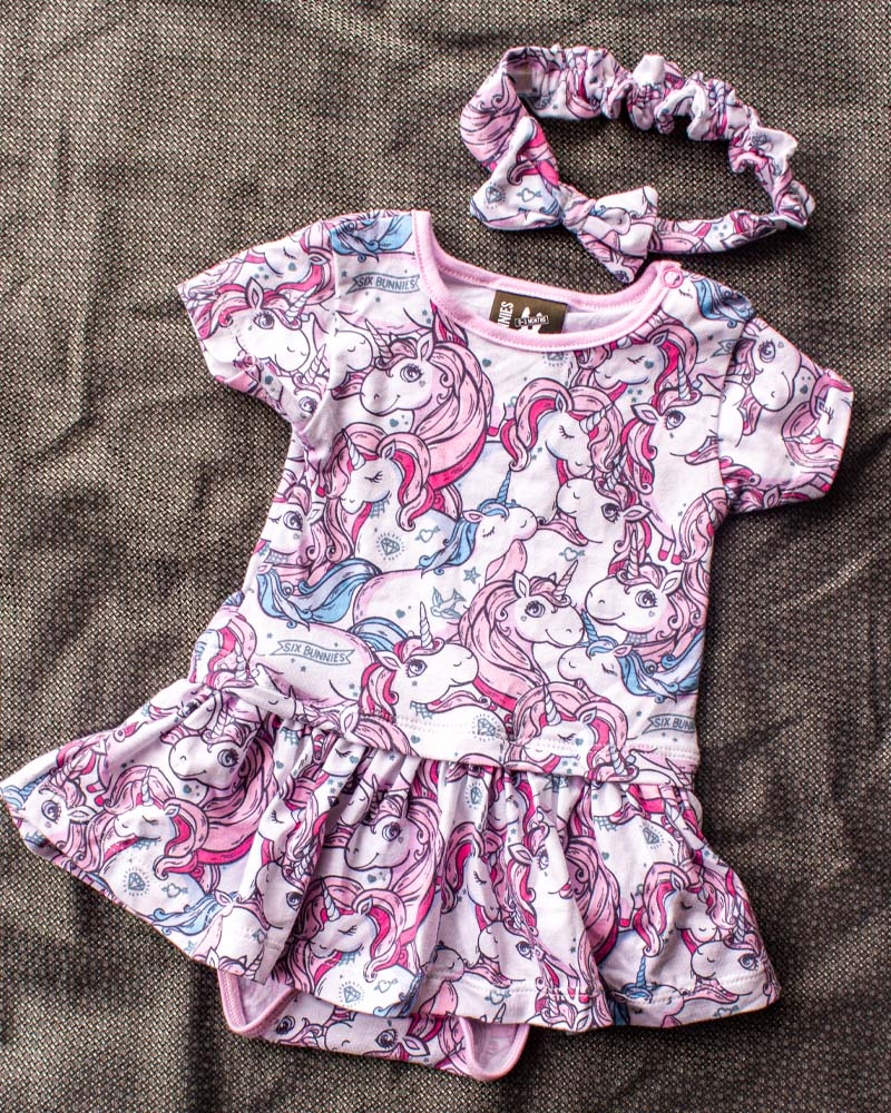 Unicorn Dreams Baby Romper Dress