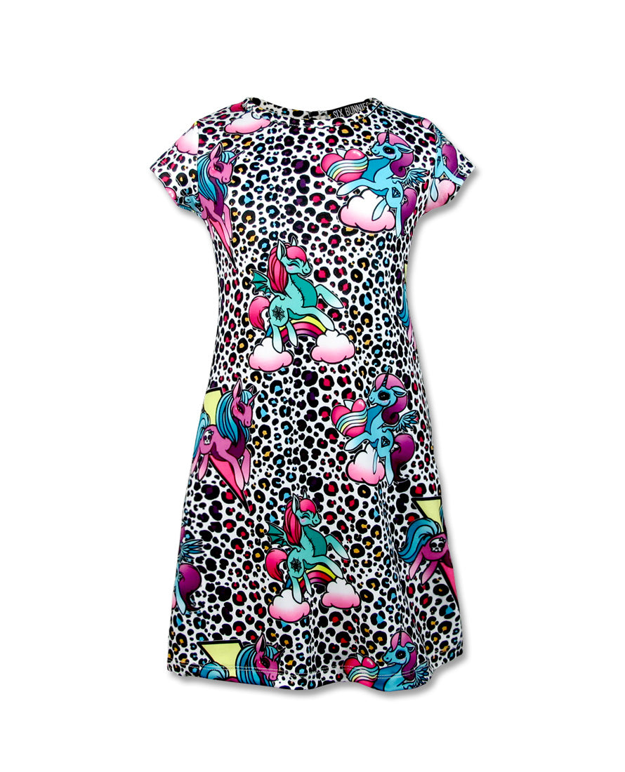 Unicorn Party Short Sleeved Dress