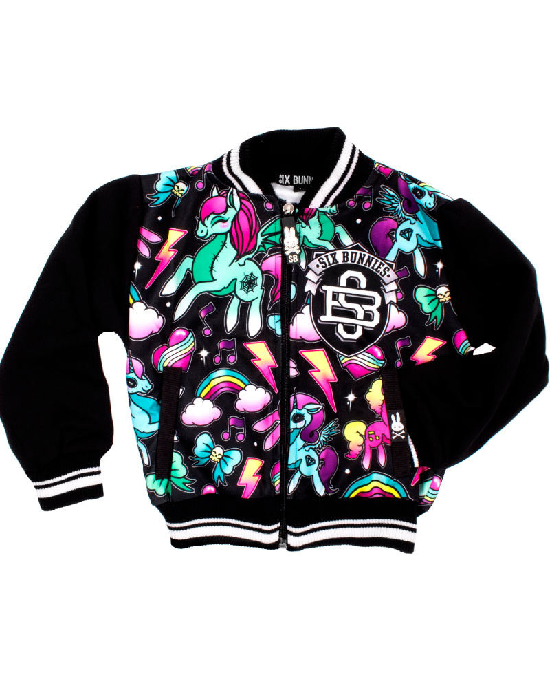 Unicorns Varsity Jacket Black