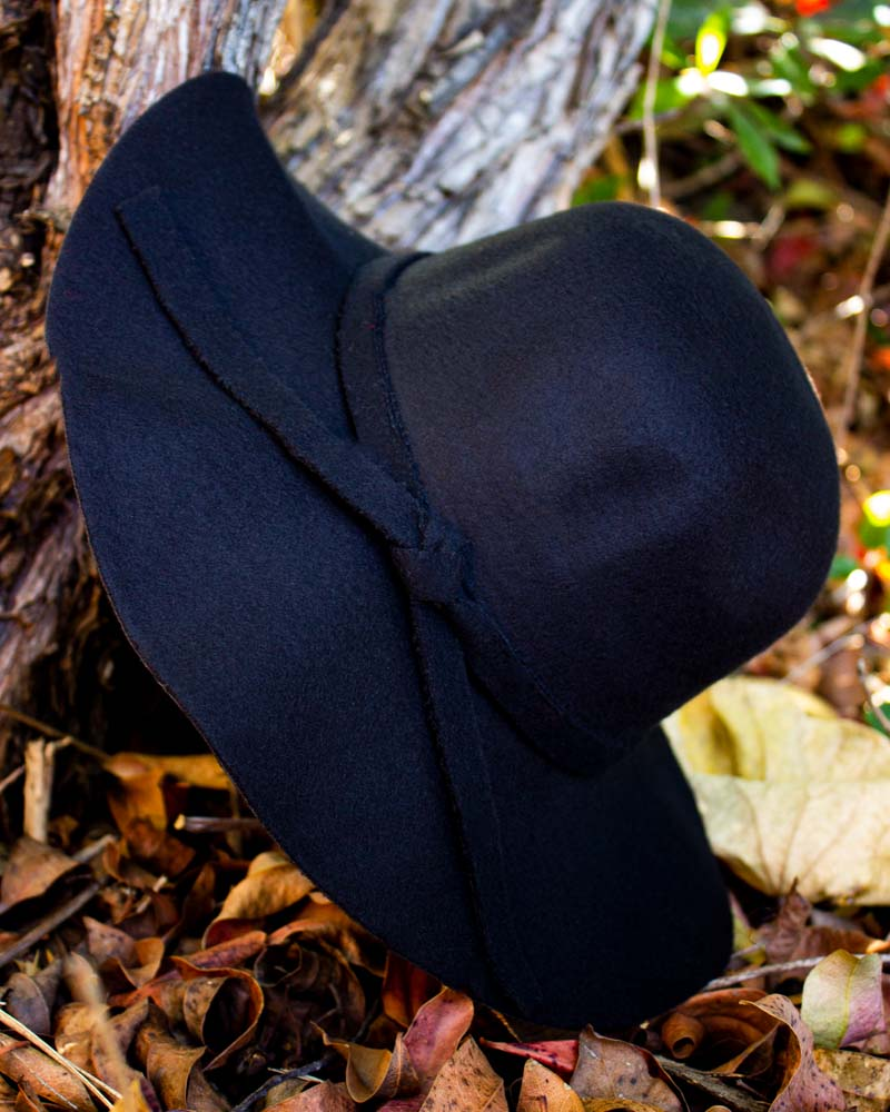 Wide Brimmed Hat - Black