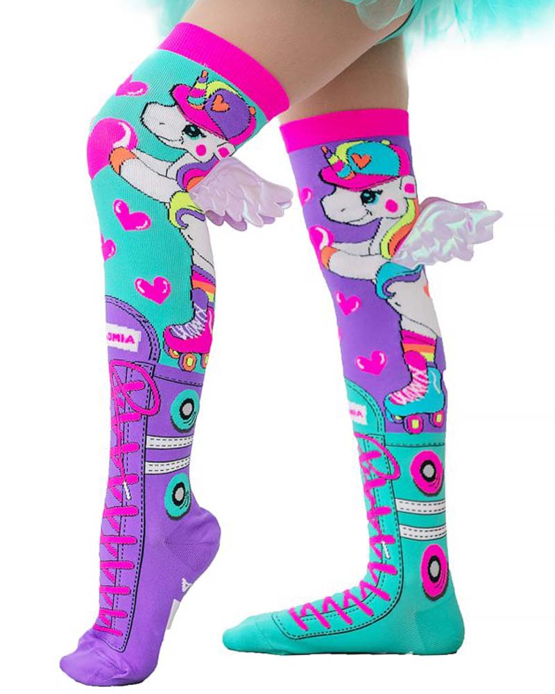 MadMia Winged Skatercorn Unicorn Socks