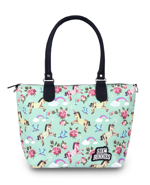 Wonderland Nappy Bag Teal