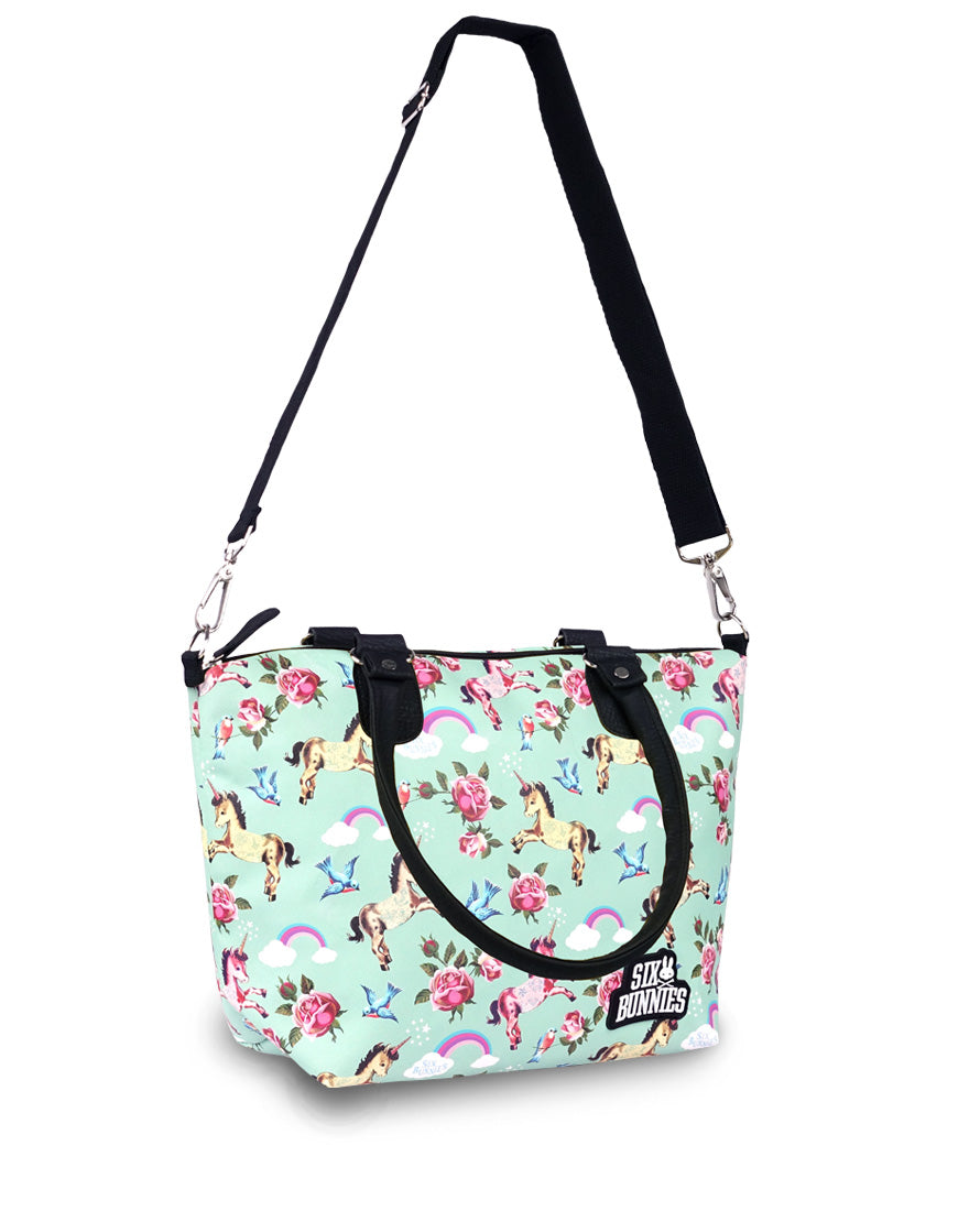 Six Bunnies Wonderland Teal Nappy Bag
