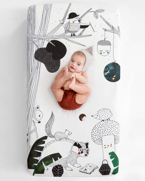 Rookie Humans Woodland Dreams Fitted Cot Sheet